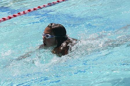 l'aigua, nedar, piscina, Natació, esquitxades d'aigua, piscina nens, esport