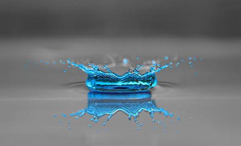 droppe vatten, DROPP, regndroppe, vatten crown, pärlstav, vattenstänk, Stäng