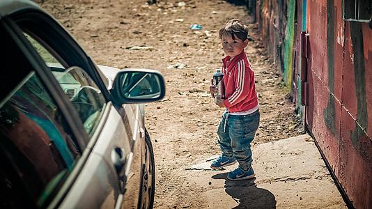 gyerek, fiú, spray, lehet, festék, graffiti, gyermek