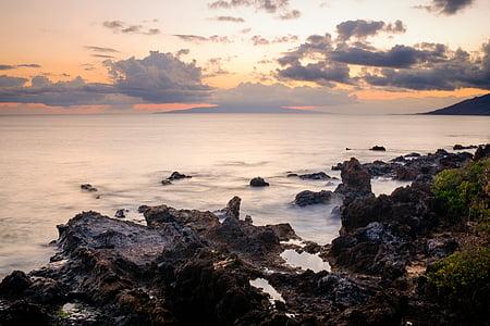 stranden, kusten, naturen, Ocean, Rocks, natursköna, havet