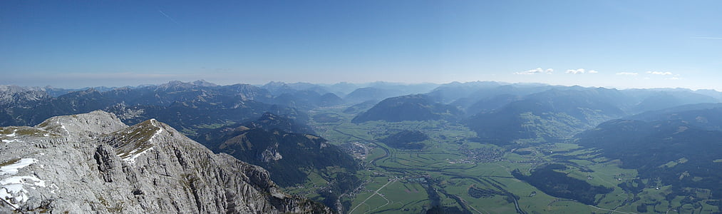 grimming, view, mountain, nature, austria, hike, hiking