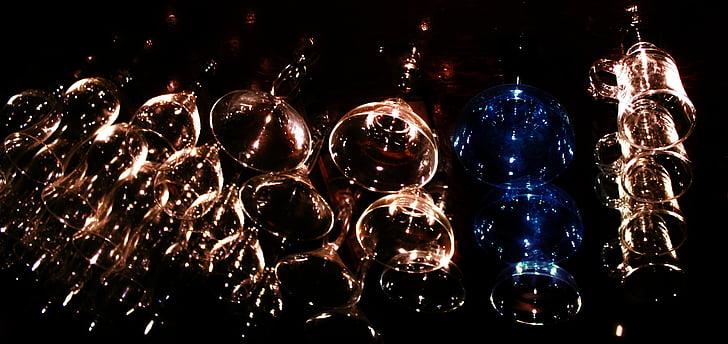 barra, ulleres, l'alcohol, beguda, vidre, alcohòliques, celebració