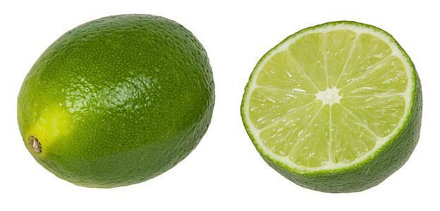 limão, maduras, fresco, corte, dividir, Abra, citrino