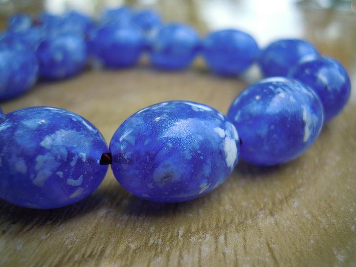perler, bekymring perler, kompoloi, blå, slappe av