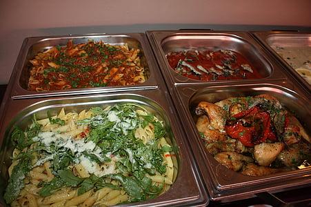mangiare caldo, a buffet, brunch, mangiare, cibo, delizioso, buffet caldo