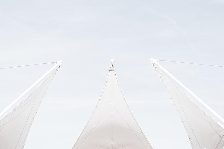 vit, abstrakt, Sky, segelbåt