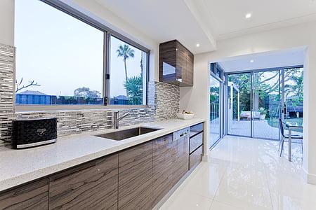 menjador, entretingut, estil de vida, cuina, vivint, luxe, Habitació interior