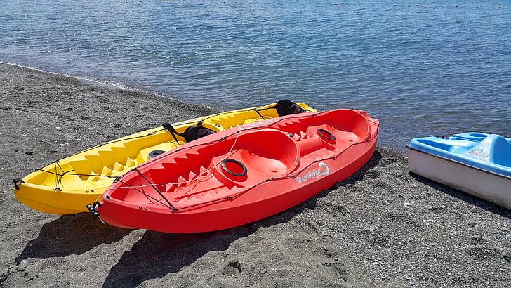 plast, båt, gånger, floden, Yacht
