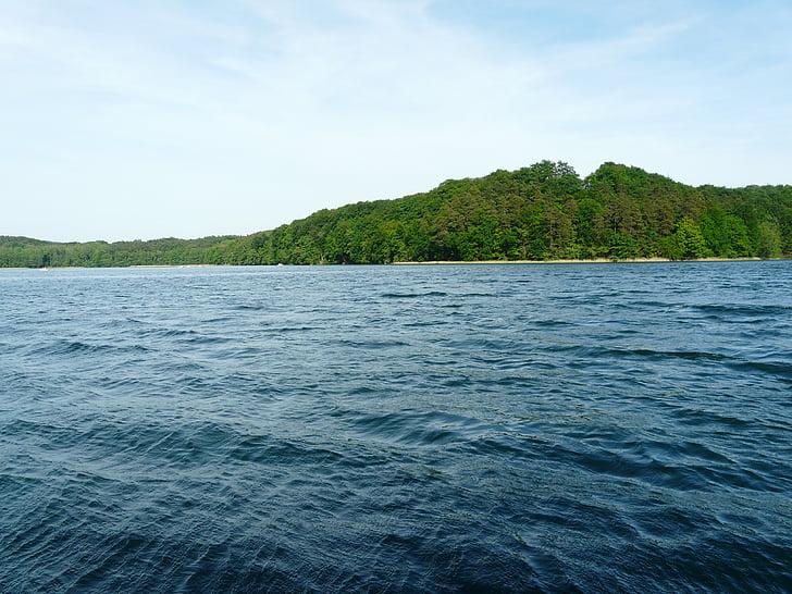 hòa bình của tâm, Lake, đường chân trời, Lagow, Ba Lan, nước
