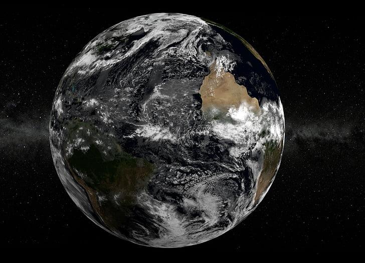 Terre, espace, fond d'écran, Graphics