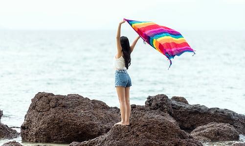 Балі, пляж, Гарненький, Краса, Бікіні, веселий, Берегова лінія