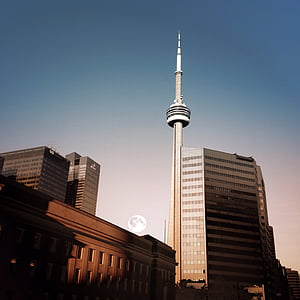 cn tower, needle, metropolis, architecture, attraction, building, canada