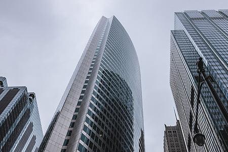 madal, nurk, Fotograafia, kõrge, risebuilding, hoonete, arhitektuur