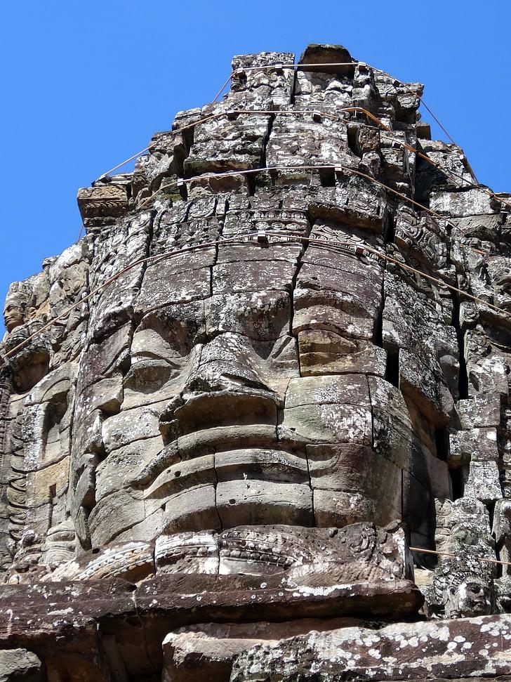 главата, Камбоджа, храма, религия