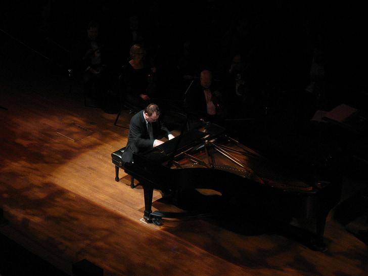 фортепиано, пианист, этап, Концерт, музыка, инструмент, Музыкальные