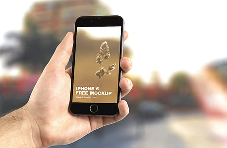 Poma, iPhone, iPhone 6, maqueta, mà, App, moderna
