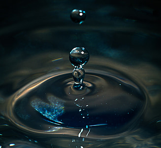 Tropf, Wasser, Tropfen Wasser