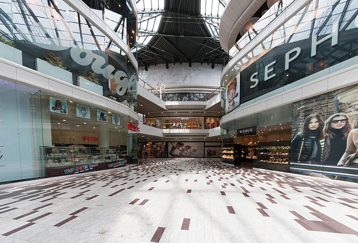kaubanduskeskus, kauplus, shopping, Kielce, Crown, Poola, arhitektuur