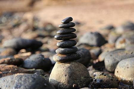 камъни, камък, кула, баланс, рок, естествени, природата