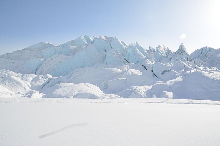 glacier, snow, ice, nature, landscape, mountain, alpine