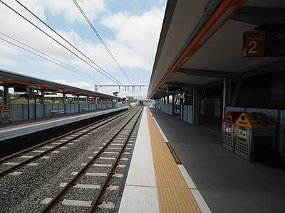 tren, estación de tren, carril de, viajes, transporte, ferrocarril de, transporte