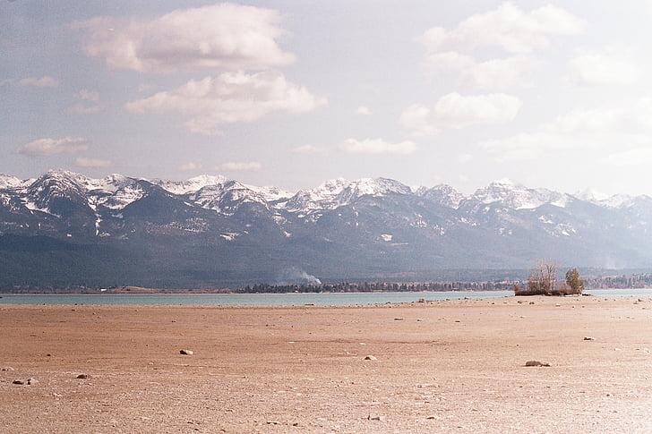 Montana, Flathead llac, Flathead, muntanyes, Llac, paisatge, natura