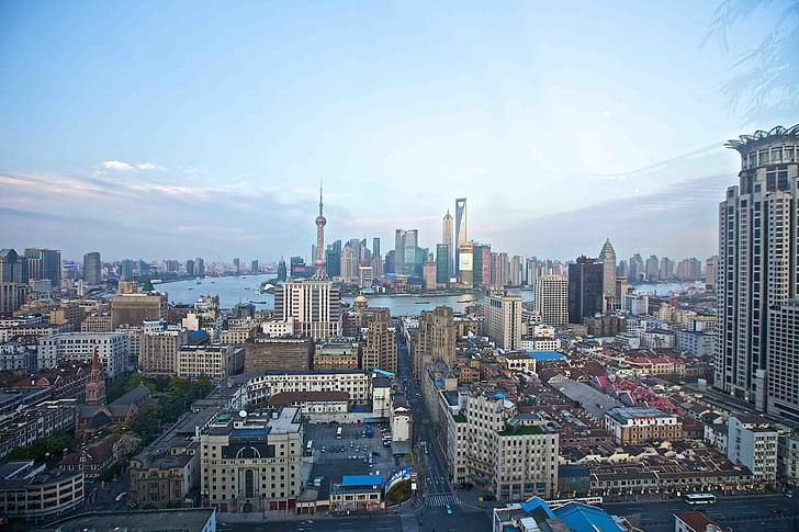 buildings, china, city, cityscape, high-rises, shanghai, skyline