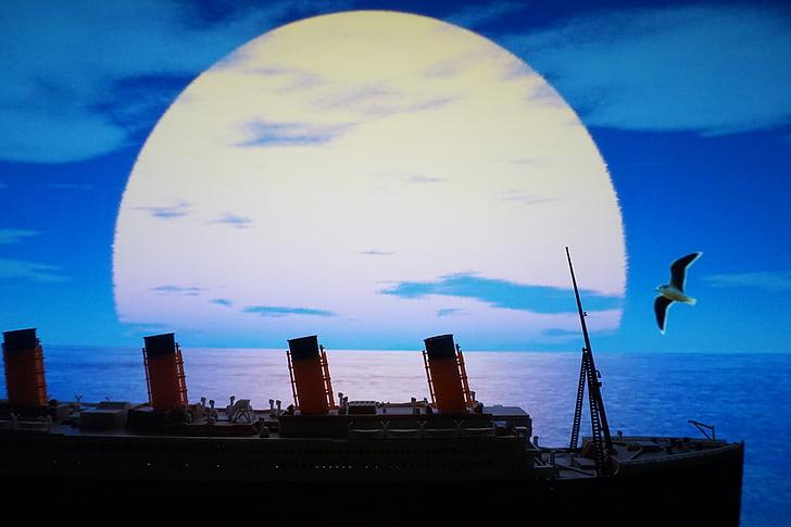 Mar, vegades, Titànic, Gavina, vaixell de plaer
