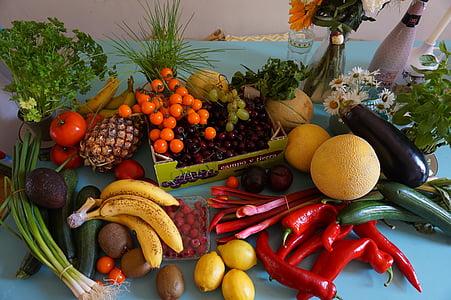 boodschappen, fruit, fruit afstanden, veganistisch, soja, voedsel, kruidenier