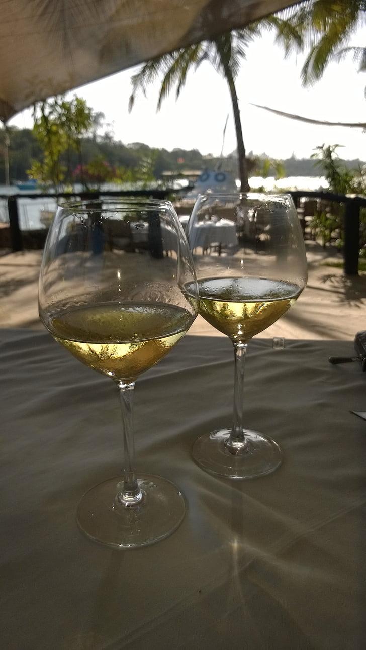 prillid, veini, valge, söökla