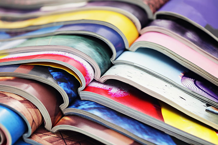 magazine, colors, media, page, colorful, book, stack