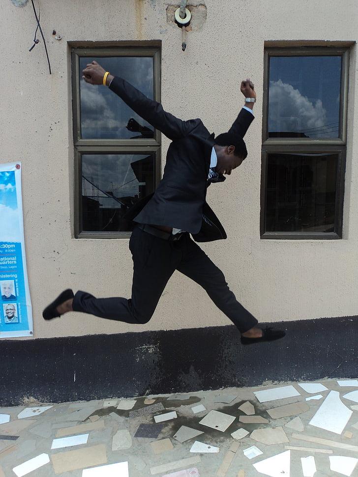 jump, man, person, jumping, happy, success, young