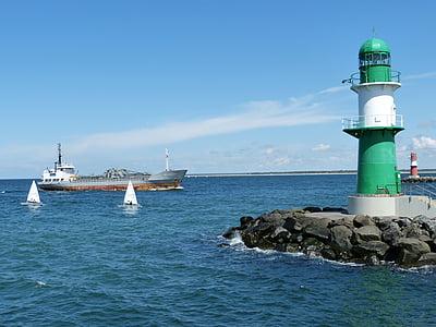 Warnemünde, Rostock, Östersjön, turism, norra Tyskland, havet, hamn