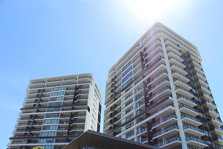 Immobilien, Bau, Gebäude, Wohnungen, Hochbau, Struktur, Mehrfamilienhaus