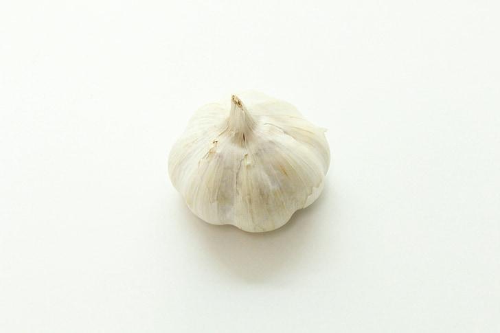 aglio, crudo, aglio crudo, bianco