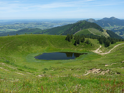 Panorama, bergsee, jezero, krajine, gorske pokrajine, Alpski