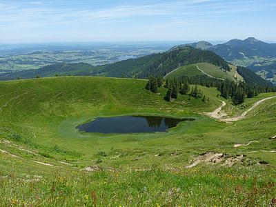 Panorama, Bergsee, jezero, krajina, Horská krajina, alpské