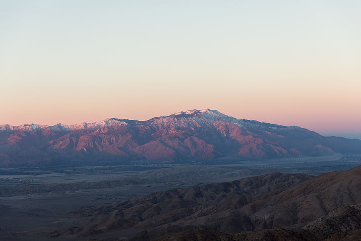 montanha, paisagem, vista superior, rocha, natureza, pôr do sol, scenics