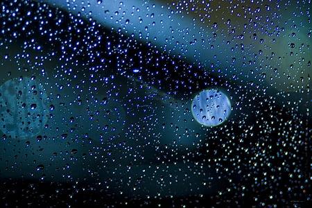 dark, wet, water, rain, drops, pattern, light