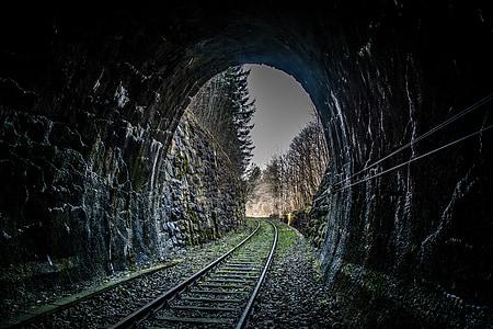 railway, tunnel, track, rail traffic, railway tunnel, railway rails, railroad Track