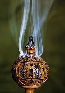 füstölő, buddhizmus, vallás, füst, lelki, buddhista, hagyomány