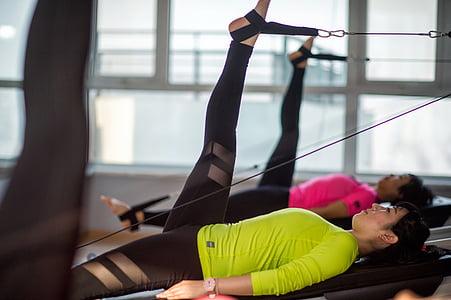 svars, Pilates, meitenes, fiziskās sagatavotības, trenažieru zāle, sporta, pilda