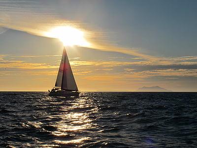 segelbåt, båt, havet, Ocean, vatten, resor, segling