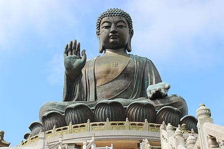 Tian tan buddha, bronz, hong kong, szobor, Ázsia, Buddha, buddhizmus