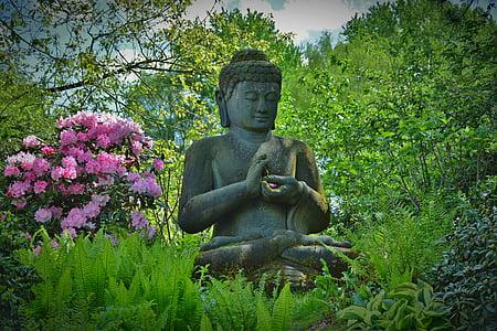 szobor, Budda, Imádkozzatok, szép illúzió ceruzával művészet, szobrászat, Ázsia, buddhizmus