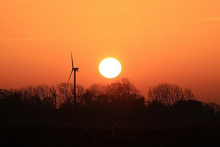 Захід сонця, післясвічення, вечірнє небо, НД, червоний, небо, abendstimmung