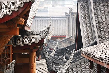 chengdu, antiquity, jin-li, asia, cultures, architecture, temple - Building