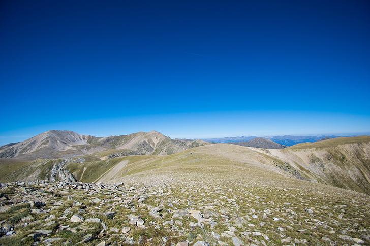 altiplà, elevat, plana, muntanya, elevació, paisatge, natura