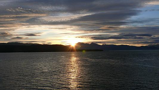 Alaska, EUA, posta de sol