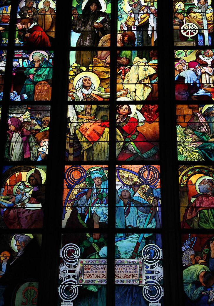 vidrieres, l'església, Vitrall, religiosos, vidre, finestra, vitralls